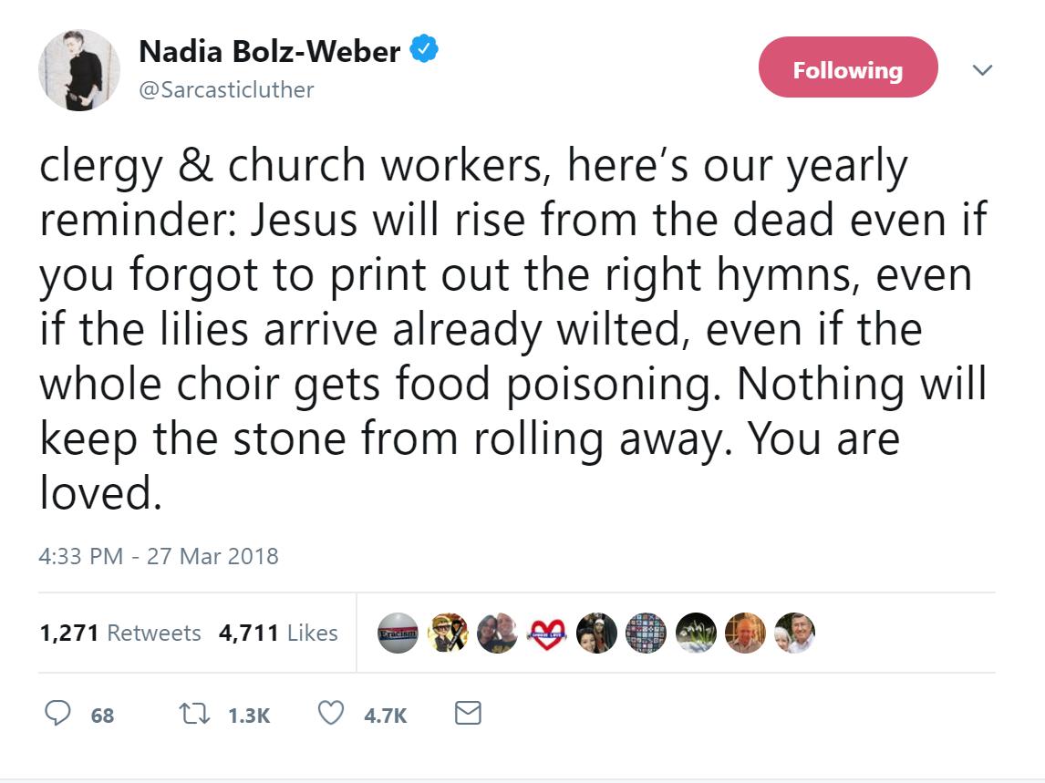 Nadia Bolz-Weber Easter tweet